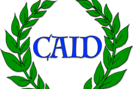 Caid inside a Laurel wreath